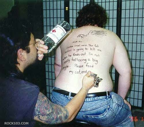 A really funny tattoo design for a fun loving person word-tattoo-designs-1